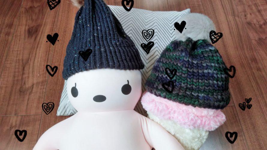 DAISOさんの『毛糸deリリアンニット帽』でニットキャップを作ってみました♪